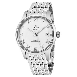 Omega Men's 433.10.41.21.02.001 'DeVille Hour Vision' Silver Dial Stainless Steel Swiss Automatic Watch