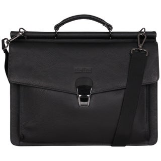 Kenneth Cole Reaction Pebbled Colombian Leather Flapover 15-inch Laptop Bag
