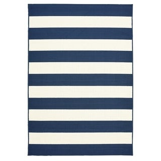 "Awning Stripe Indoor Outdoor Area Rug - 7'10"" x 9'10""x0.1"""