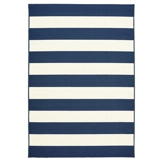 "Awning Stripe Indoor Outdoor Area Rug - 7'10"" x 9'10""x0.1"""