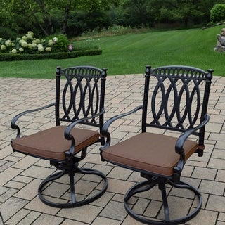 Milan Cast Aluminum Sunbrella Cushioned Swivel Rockers