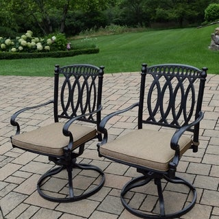 Milan Cast Aluminum Cushioned Swivel Rockers