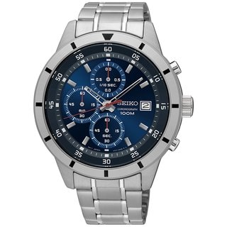 Seiko Men's Chronograph SKS559 Stainless Steel Blue Dial Watch