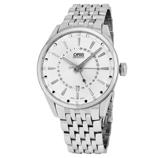 Oris Men's 761 7691 4051 MB 'Artix Pointer' Silver Dial Stainless Steel Moon phase Swiss Automatic Watch
