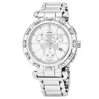 Fendi Women's  'Selleria' White Dial Stainless Steel Chronograph Swiss Quartz Watch