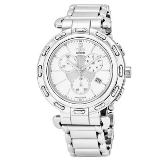 Fendi Women's F89034H.BR8653 'Selleria' White Dial Stainless Steel Chronograph Swiss Quartz Watch