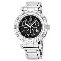 Fendi Women's  'Selleria' Black Dial Stainless Steel Chronograph Swiss Quartz Watch