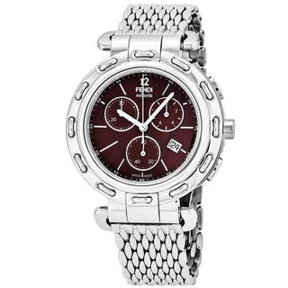 Fendi Women's F89032H.BR8153 'Selleria' Brown Dial Stainless Steel Chronograph Swiss Quartz Watch https://ak1.ostkcdn.com/images/products/17740829/P23943142.jpg?impolicy=medium