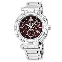 Fendi Women's F89032H.BR8653 'Selleria' Brown Dial Stainless Steel Chronograph Swiss Quartz Watch