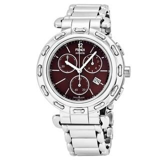 Fendi Women's F89032H.BR8653 'Selleria' Brown Dial Stainless Steel Chronograph Swiss Quartz Watch