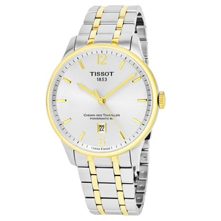 Tissot Men's T099.407.22.037.00 'Chemin Des Tourelles' Silver Dial Two Tone Stainless Steel Swiss Powermatic Watch