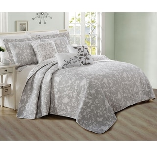 Serenta 6 Piece Bird Song Printed Microfiber Quilts Coverlet Set