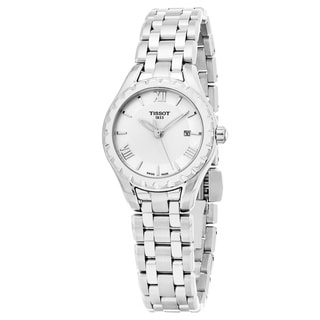 Tissot Women's T072.010.11.118.00 'Lady Small' Mother of Pearl Dial Stainless Steel Swiss Quartz Watch