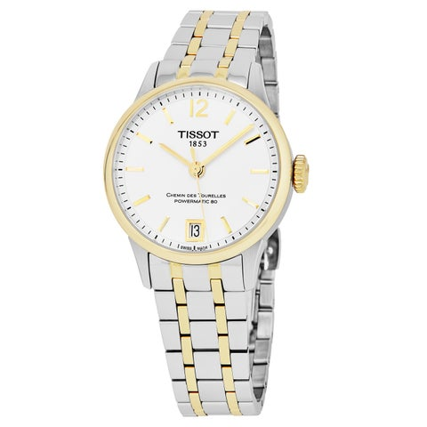 Tissot Women's T099.207.22.037.00 'Chemin Des Tourelle' Silver Dial Two Tone Stainless Steel Swiss Automatic Watch