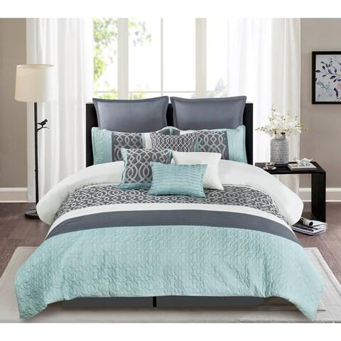 Wonder Home Greyjoy 10-piece Embellished Comforter Set