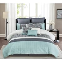 Belinda Comforter Set in Grey