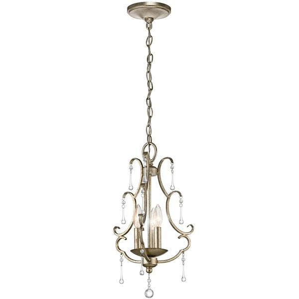 Kichler Lighting Shelsley Collection 3-light Sterling Gold Foyer Pendant