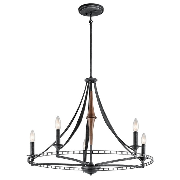 Kichler Lighting Clague Collection 5-light Distressed Black Chandelier