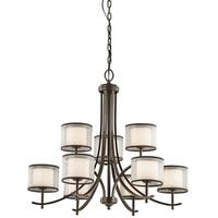 Gracewood Hollow Farouk Collection 9-light Mission Bronze Chandelier