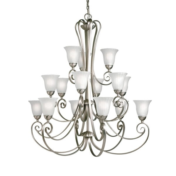 Kichler Lighting Willowmore Collection 15-light Brushed Nickel Chandelier