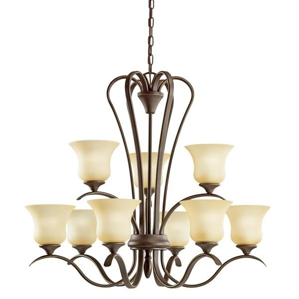 Kichler Lighting Wedgeport Collection 9-light Olde Bronze Chandelier