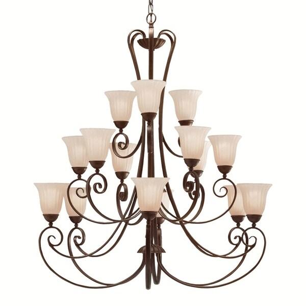 Kichler Lighting Willowmore Collection 15-light Tannery Bronze Chandelier