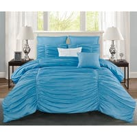 Wonder Home Lillian 7PC Pleated Comforter Set