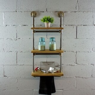Furniture Pipeline Juneau Industrial Wall Mounted Etagere Rack