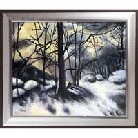 Paul Cezanne 'Melting Snow, Fontainebleau' Hand Painted Oil Reproduction