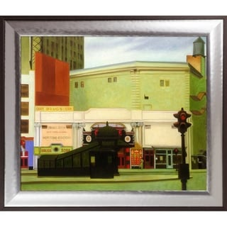Edward Hopper 'The Circle Theatre, 1936' Hand Painted Oil Reproduction