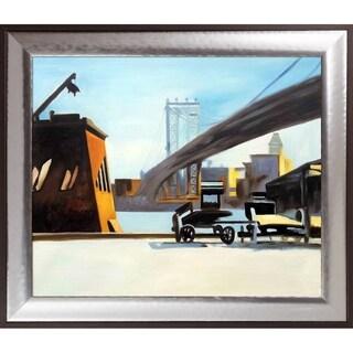 Edward Hopper 'Manhattan Bridge, 1926' Hand Painted Oil Reproduction