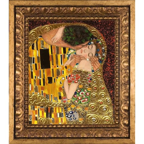 Gustav Klimt 'The Kiss' (Luxury Line) Hand Painted Oil Reproduction