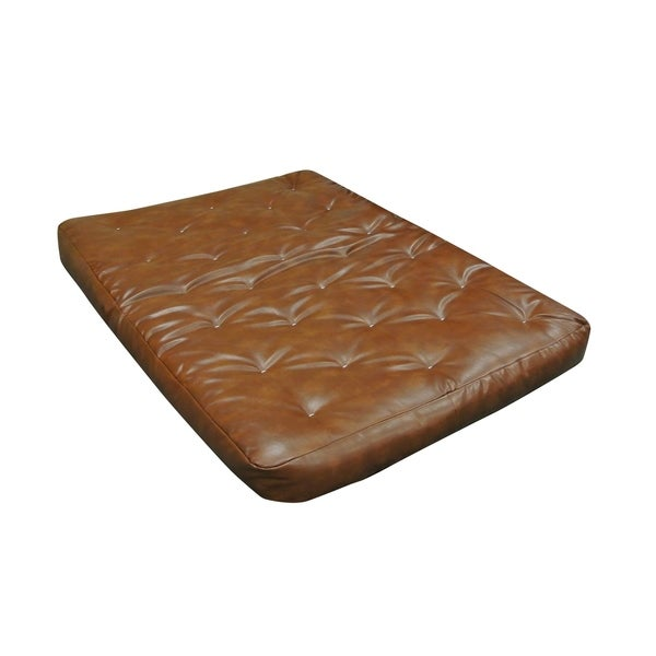 8 All Cotton Twin Xl 39x80 Saddle Leather Futon Mattress