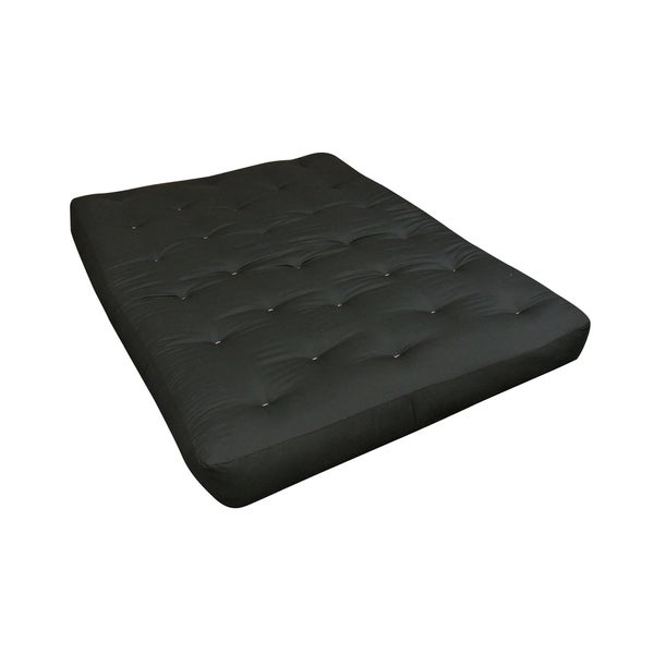 8 All Cotton Twin Black Duct Futon Mattress