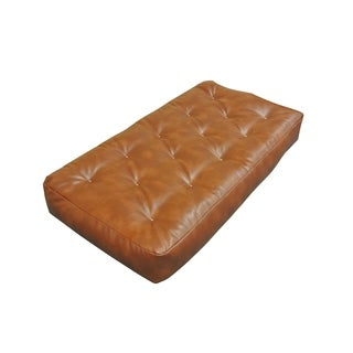 all cotton saddle leather chair 8 inch futon mattress futon chair for less   overstock    rh   overstock