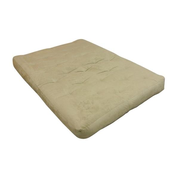 "8"" Wool Wrap Full Chocolate Microfiber Futon Mattress"
