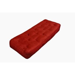 feathertouch ii burgundy microfiber 9 inch loveseat ottoman futon mattress moonlight burgundy microfiber queen 9 inch futon mattress   free      rh   overstock