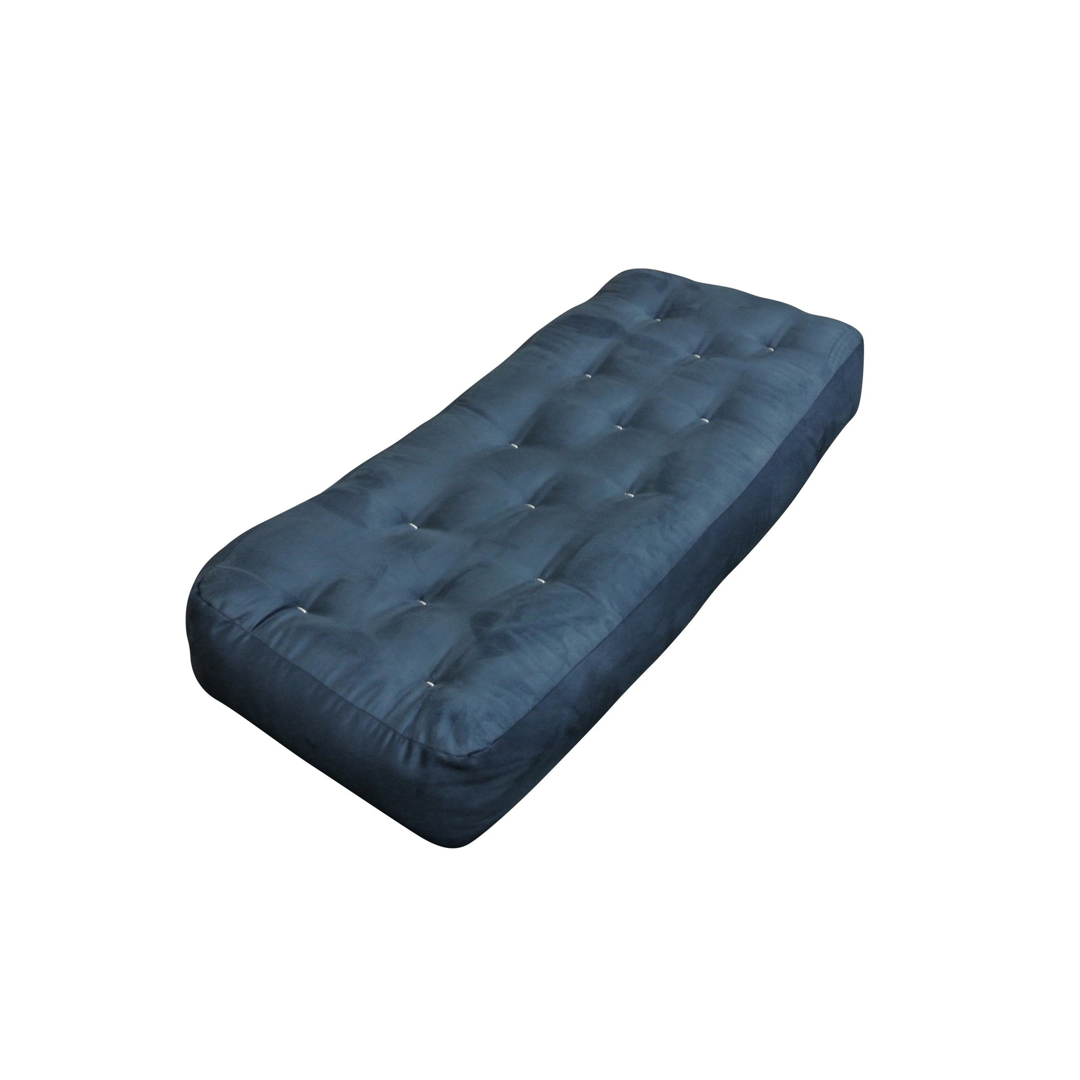 10 Double Foam Cotton 21x54 Loveseat Ottoman Blue Microfiber Futon Mattress