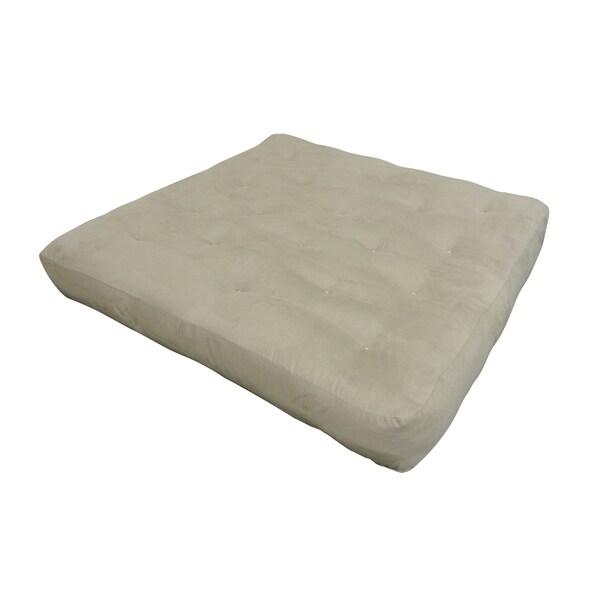 8 Double Foam Cotton Loveseat 54x54 Tan Microfiber Futon Mattress