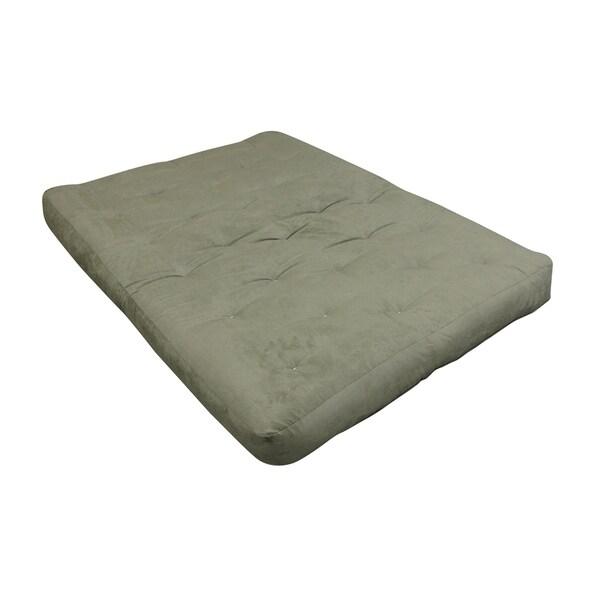 Sage Microfiber Single Foam Cotton 8 Inch King Size Futon Mattress