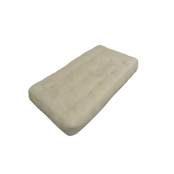 8 Single Foam Cotton Chair Tan Microfiber Futon Mattress
