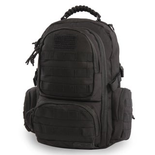 Highland Tactical West Heavy Duty Tactical Backpack (Option: Black)