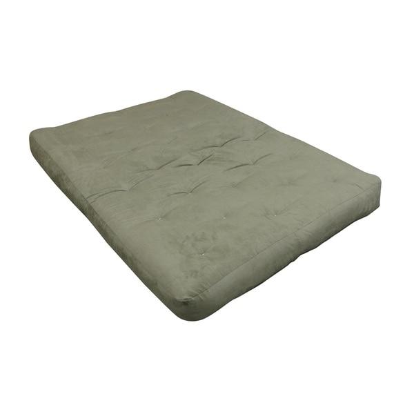6 Single Foam Cotton King Sage Microfiber Futon Mattress