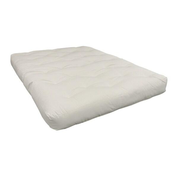 Natural Single Foam Cotton 6 Inch Full Size Futon Mattress