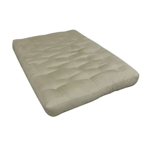 6 Single Foam Cotton Twin Xl 39x80 Tan Microfiber Futon Mattress