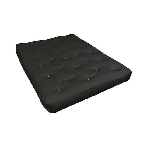 "6"" Single Foam & Cotton Twin Black Duct Futon Mattress"