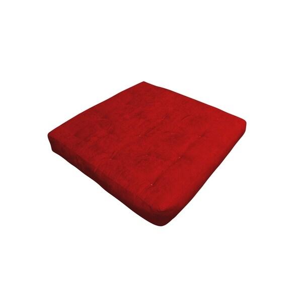 "6"" Single Foam & Cotton Loveseat 54X54 Burgundy Microfiber Futon Mattress"