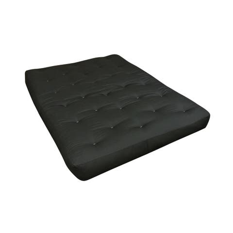 "4"" All Cotton King Black Duct Futon Mattress"