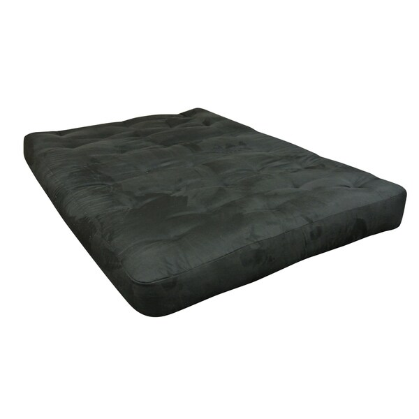 black microfiber all cotton 4 inch full size futon mattress black microfiber all cotton 4 inch full size futon mattress   free      rh   overstock