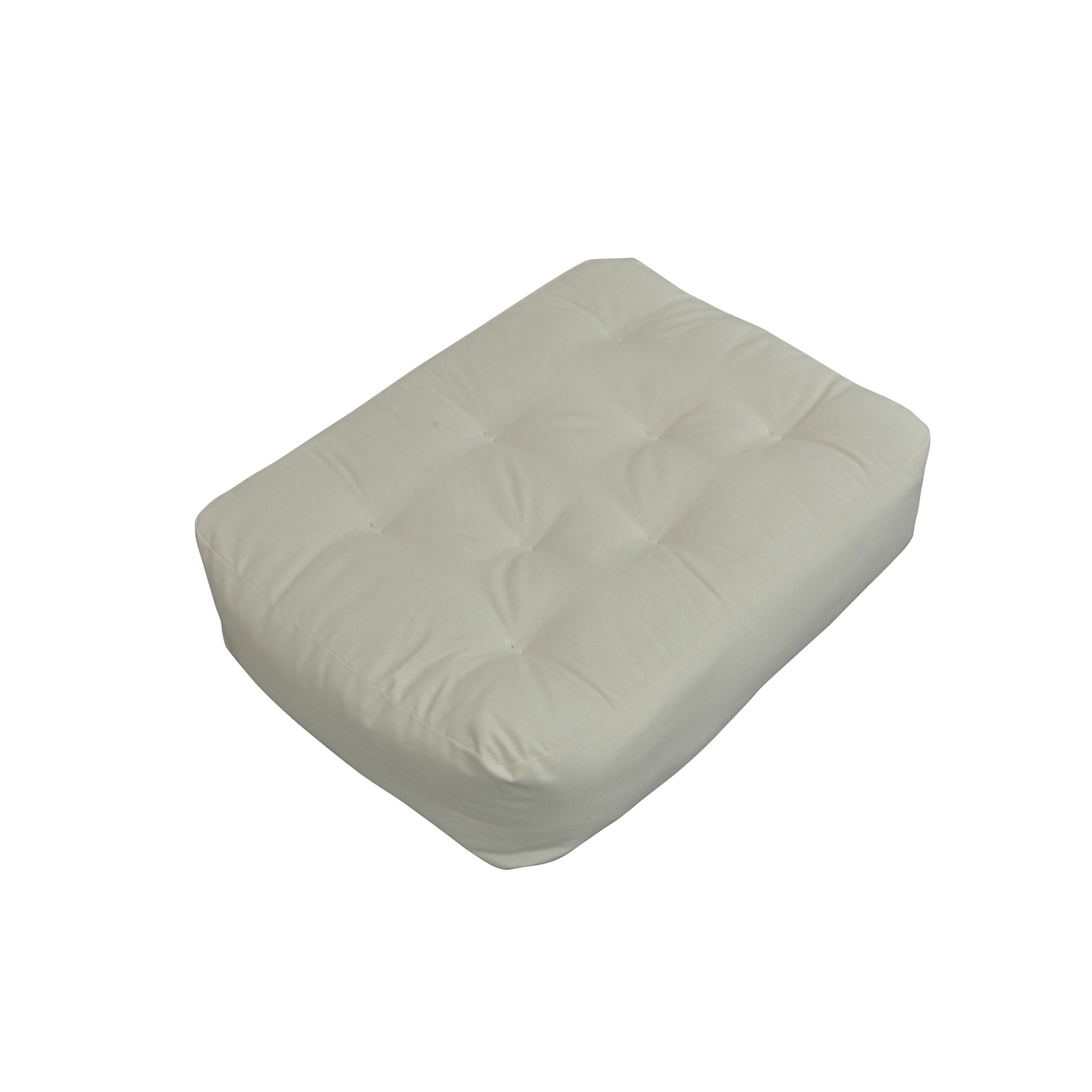 6 Single Foam Cotton 21x28 Chair Ottoman Natural Futon Mattress